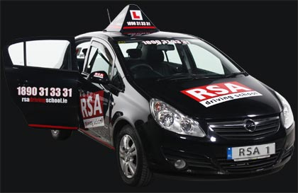 RSA Driving School Branded Car